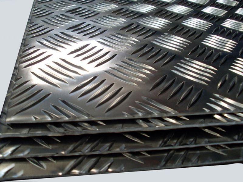 Chapa de aluminio lavrada - xadrez